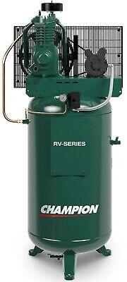 Industrial 5hp Air Compressor 2 Stage 19.1 Cfm Displ Single Phase Vrv5-8 Usa