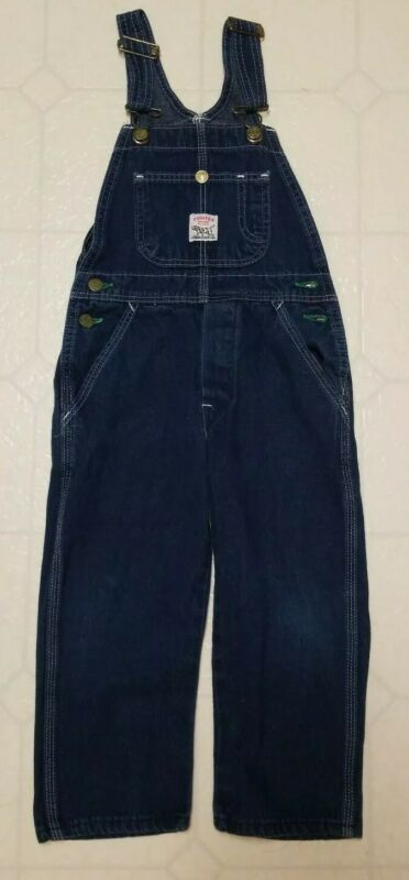 Vintage Kids Boys Girls Youth Pointer Brand Blue Jean Overalls Sz 5 Made in USA