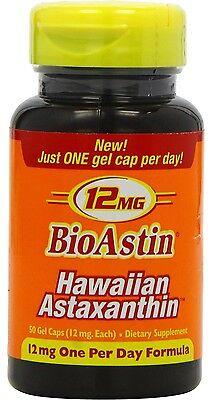 BioAstin 12 mg 50 Kapseln (2 Dosen à 25 Kaps.) Astaxanthin  ORIGINAL AUS HAWAII ()
