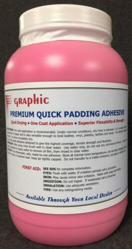 PADDING COMPOUND ADHESIVE RED PREMIUM ONE COAT QUICK DRYING NEW 1 GALLON