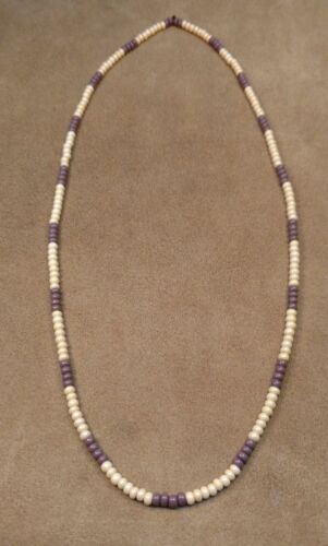 Wampum Style Beaded Necklace, Czech Glass Beads, Eastern Woodlands Longhunter !!