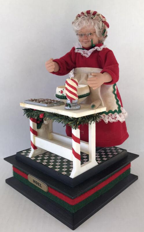 Vintage Mrs Santa Claus Figure Holiday Creations Music Box Holiday Baking 1993