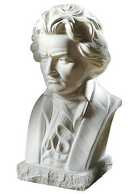 Komponist Beethoven Büste Figur aus Alabastergips 22cm