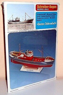 """+ KARTONMODELLBAU  Fischmotorschiff """"Gustav Dahrendorf""""  SCHREIBER-BOGEN 71059"""
