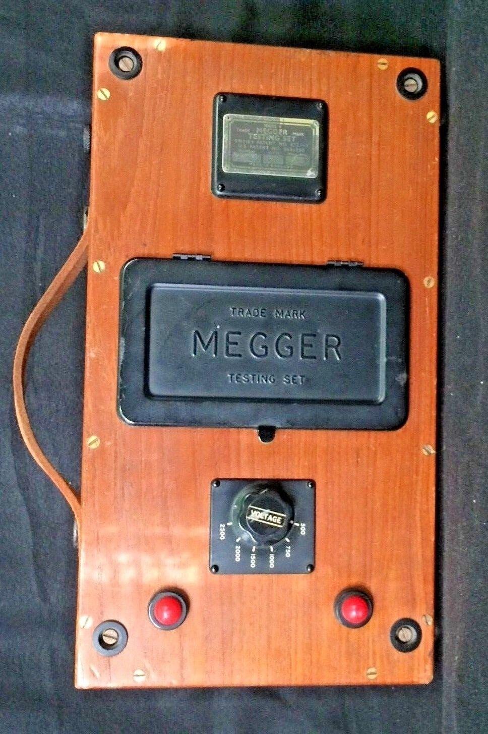 VNTG J G Biddle Co MEGGER Series 1 INSULATION TESTER Meter V