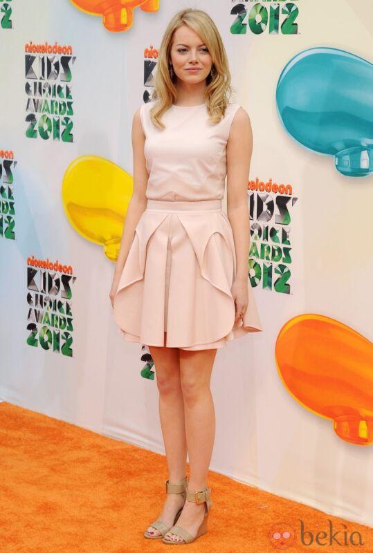 Emma Stone Posing Pink Dress 8x10 Photo Print