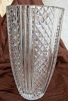 schwere alte große bleikristallvase mit tollem charme