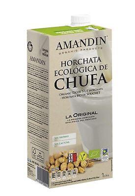 Amandin Organic Tiger Nut Horchata 1Ltr (Pack of 6)