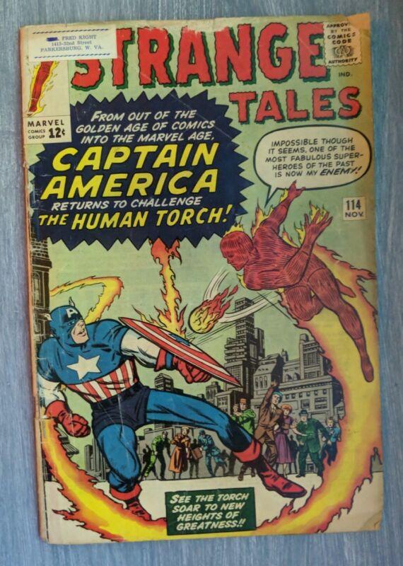 Strange Tales #114 (1963 MARVEL)1st post-Golden Age Captain America (disguised)