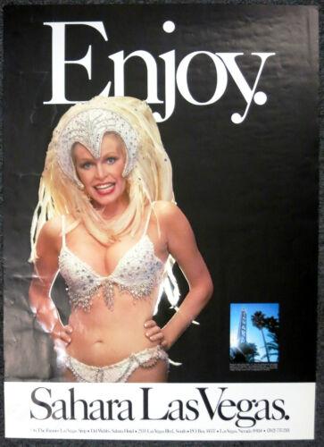 Enjoy Las Vegas Sahara Hotel Casino Travel Poster 1970