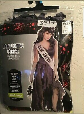 Zombie Prom Dress (Homecoming Queen Prom Zombie Halloween Fancy Dress Corpse Costume)