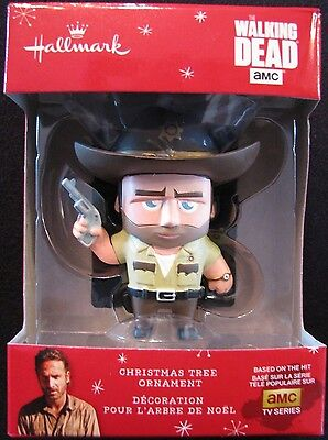 Hallmark Christmas Ornament The Walking Dead Rick Grimes 1HCM4701 Rare Fan Gift