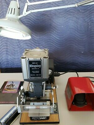 Kingsley Hot Foil Stamping Machine Model Am-101 With Foot Pedal. Excellent Cond.