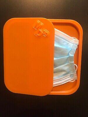Porta mascherina custodia cover contenitore personalizzabile arancione