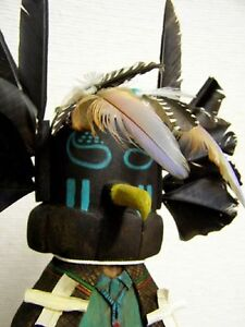 19-Old-Style-Hopi-Carved-Crow-Man-Kachina-Doll-Sculpture-by-Aaron-Honyumptewa