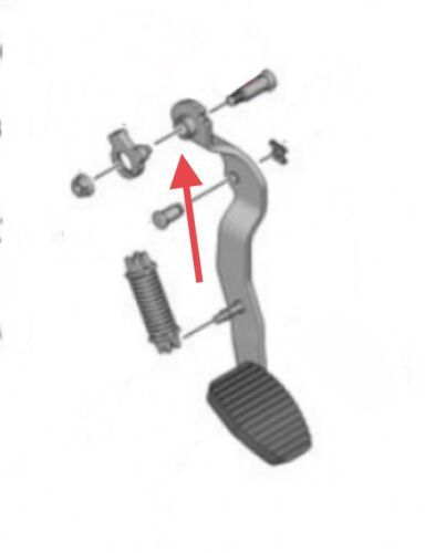 Car Parts - Citroen Berlingo/Peugeot 1.6hdi Clutch Pedal Pivot Bolt Washers / Bushes X2