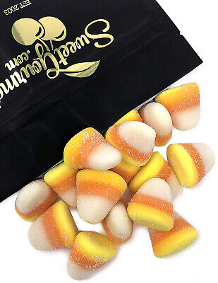 SweetGourmet Sugared Candy Corn Gummi Candy | Vidal Fall Gummy Candy Unwrapped | - Halloween Candy Unwrapped