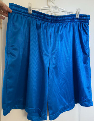 NEW MENS BLUE ATHLETIC STARTER STRETCH WAIST SHORTS  Size 2X