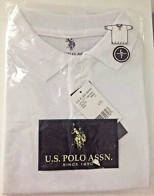 US Polo Assn Boys White Polo Shirt. Size 7. NWT school uniform