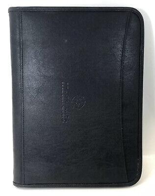Medtronic Black Organizer Wallet Folio Case Portfolio Notepad Resume Interview
