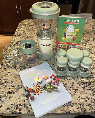Magic Baby Bullet Complete Food Blender Processor + What To Eat Pregnant Book!