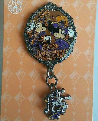 Japan Tokyo Disney Sea TDS Mickey Minnie Halloween Mardi Gras Spider Dangle Pin