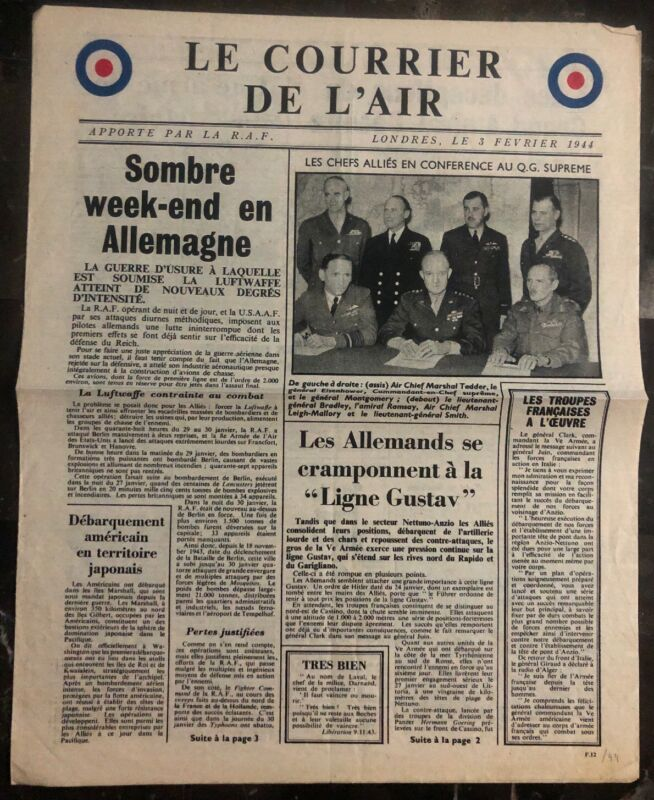 Original Great Britain leaflet Dropped On France WW2 The Airmail By RAF
