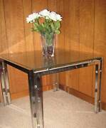 GLASS / CHROME SQUARE COFFEE / SIDE TABLE - NEW in SA Athelstone Campbelltown Area Preview