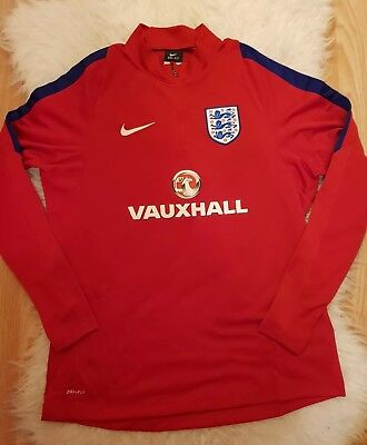Nike England vauxhall Drill Top jumper midlayer football sweatshirt Size M S