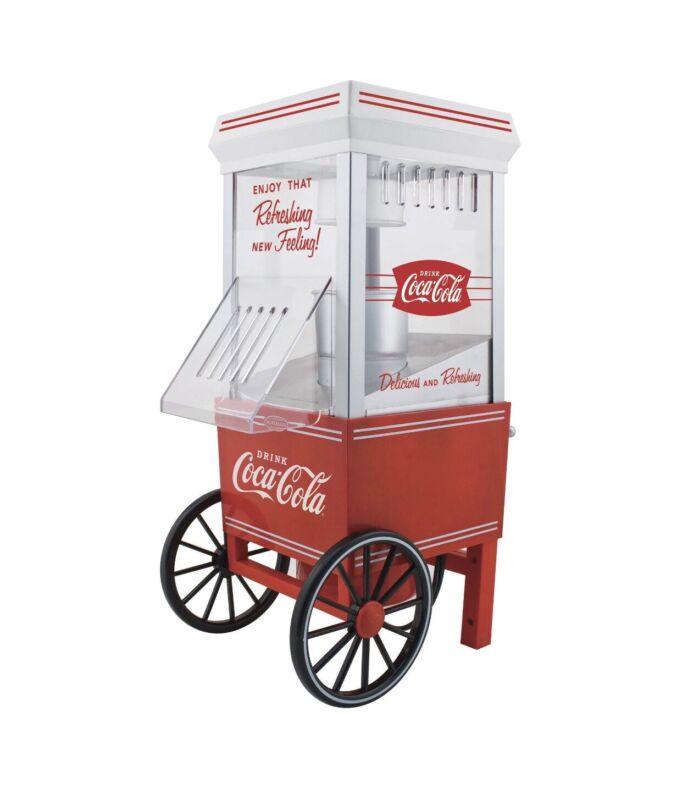 Handy - Nostalgia OFP501COKE Coca-Cola 12-Cup Hot Air Popcorn Maker