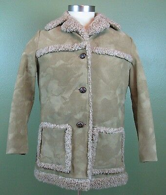 Vintage Fingerhut Fashions 70's Brown Heavy Winter Coat Size 38