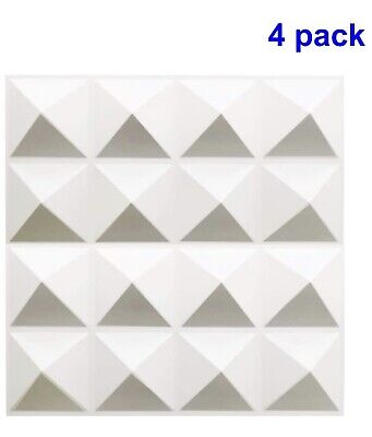 "TROY STUDIO 4-Pack Acoustic Sound Diffuser Panels 12' x 12 x 1"" - White"