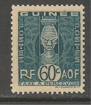 French Guinea #J32 (D4) VF MINT - 1938 60c African Head / Postage Due