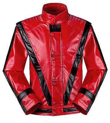 Men Women Kids Michael Jackson Costume Billie Jean-Beat It-Thriller Jacket Coats