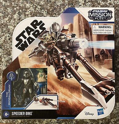 Star Wars Mission Fleet The Mandalorian & Child (Baby Yoda) Speeder Bike New