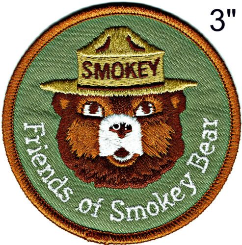 Official FRIENDS OF SMOKEY BEAR Embroidered Patch USFS NEW Only You Wildland AA