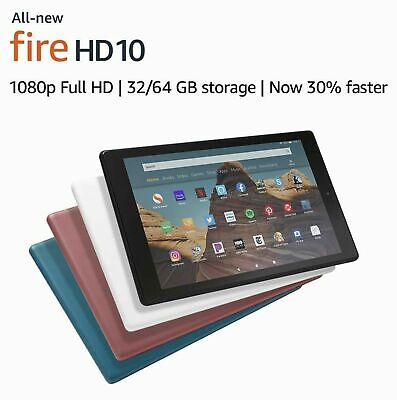 """All-New Amazon Kindle Fire HD 10 Tablet 9th Gen 2019 (10.1"""" 1080p) 32/64 Various"""