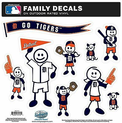 Detroit Tigers Outdoor Rated Vinyl Family Decals MLB Licensed Baseball Detroit Tigers Family Decal