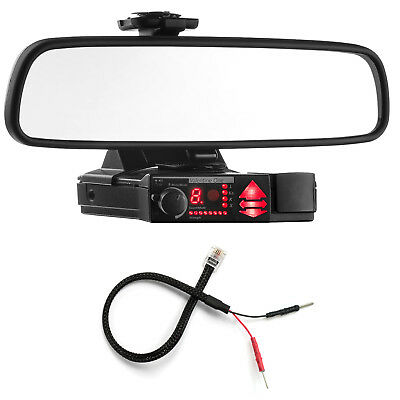 Mirror Mount Bracket + Mirror Wire Power Cord for Valentine V1