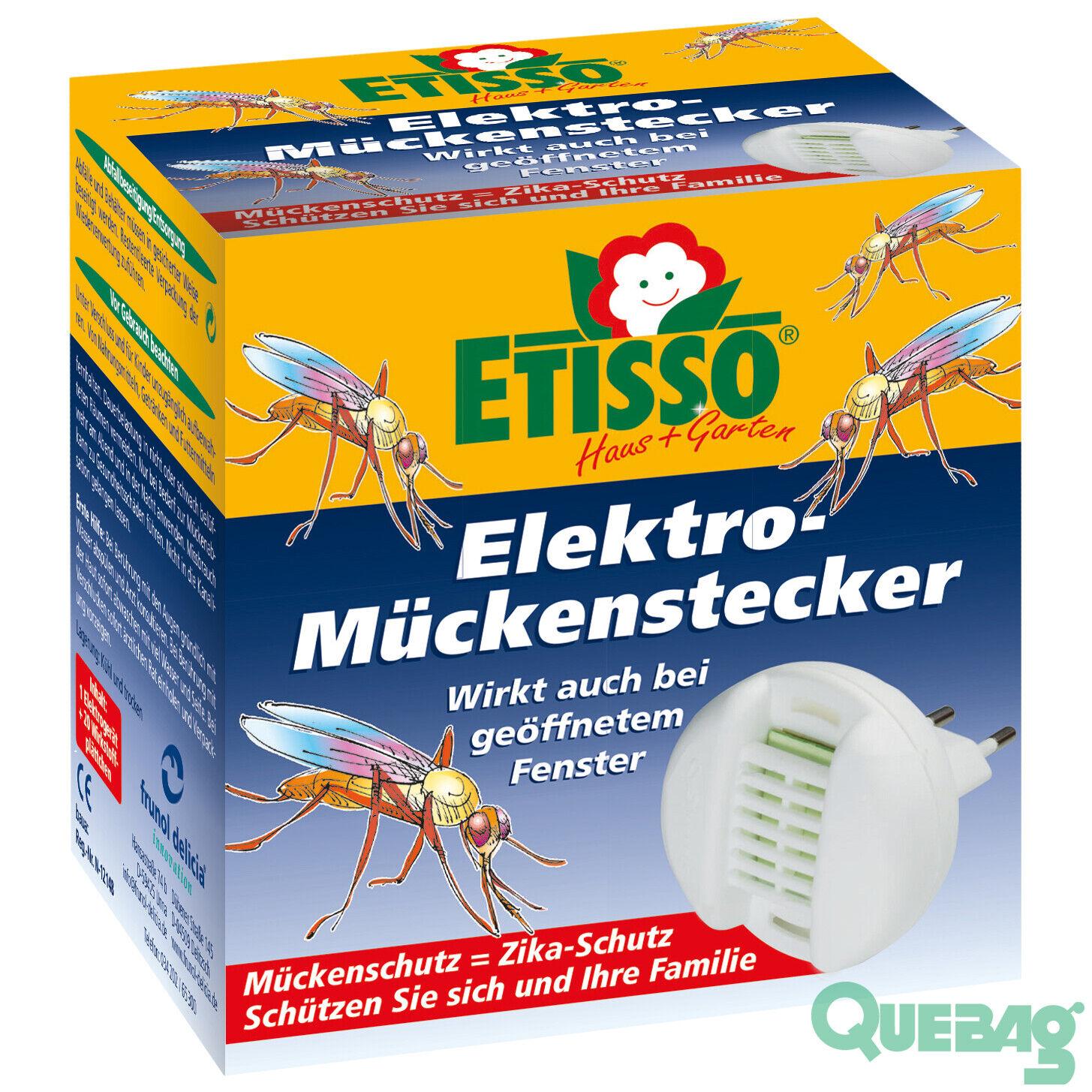 ETISSO Elektro-Mückenstecker + 20 Plättchen Zika Mücke Mückenabwehr Mückenschutz