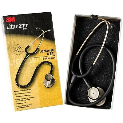 Littmann Lightweight Ii 2 Se Stethoscope 3m 2450- Black New In Box Nursing