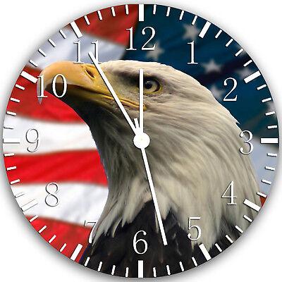 American Flag Eagle Frameless Borderless Wall Clock Nice For Gifts or Decor Z62