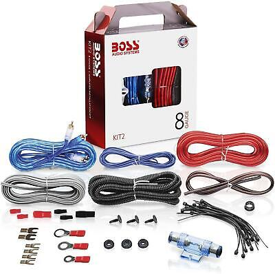 BOSS Audio System 8 Gauge Amplifier Wiring Kit Brings Power Subwoofer Speaker