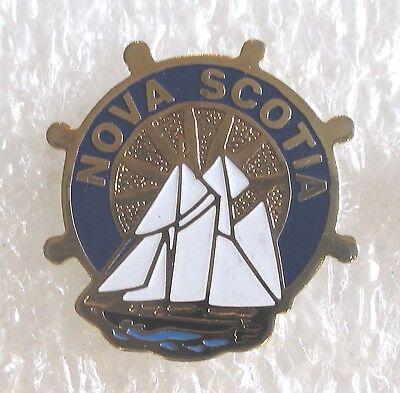 Nova Scotia Canada Travel Souvenir Collector Pin - Sailboat