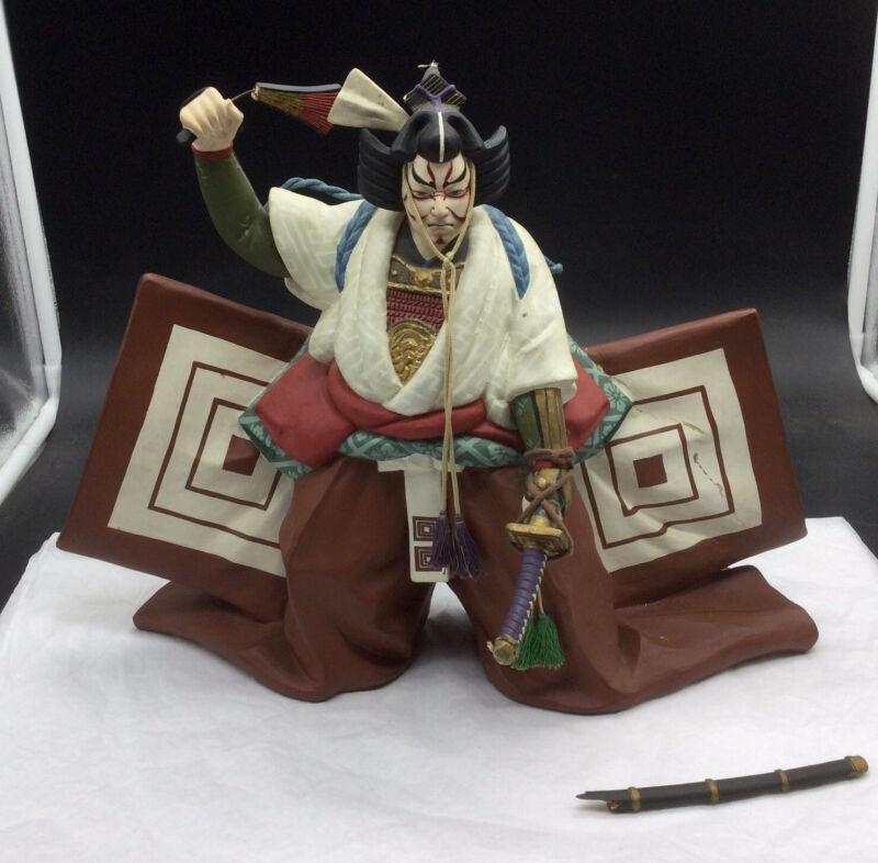Hakata Urasaki Japanese Kabuki Theater Figurine Clay Hand Painted
