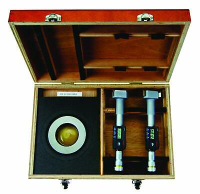 Mitutoyo 468-990 Digimatic Holtest Lcd Inside Micrometer Set 3-4