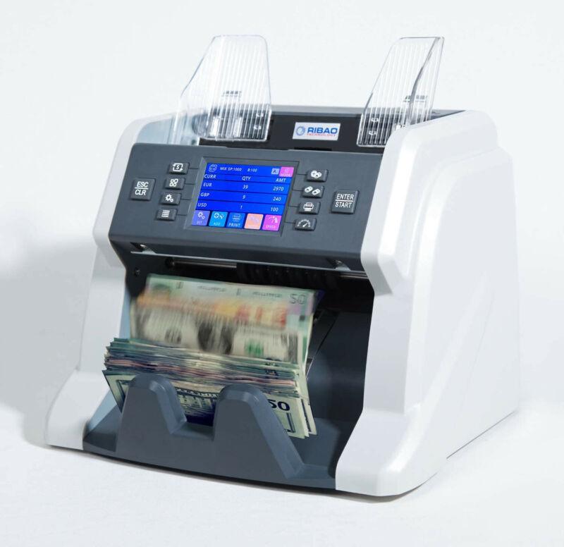 Ribao BC-55 Mixed Denomination Bill Counter 2 CIS UV MG IR Counterfeit Detection