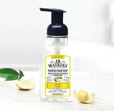 J.R. Watkins FOAMING HAND SOAP Lemon Scent 9 fl oz ALL NATURAL PLANT-BASED Lemon Foaming Soap