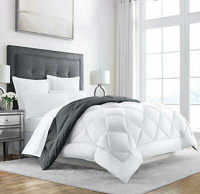 Heavy Comforter Goose Feather Down Warm Full/Que Blanket Best Large Winter