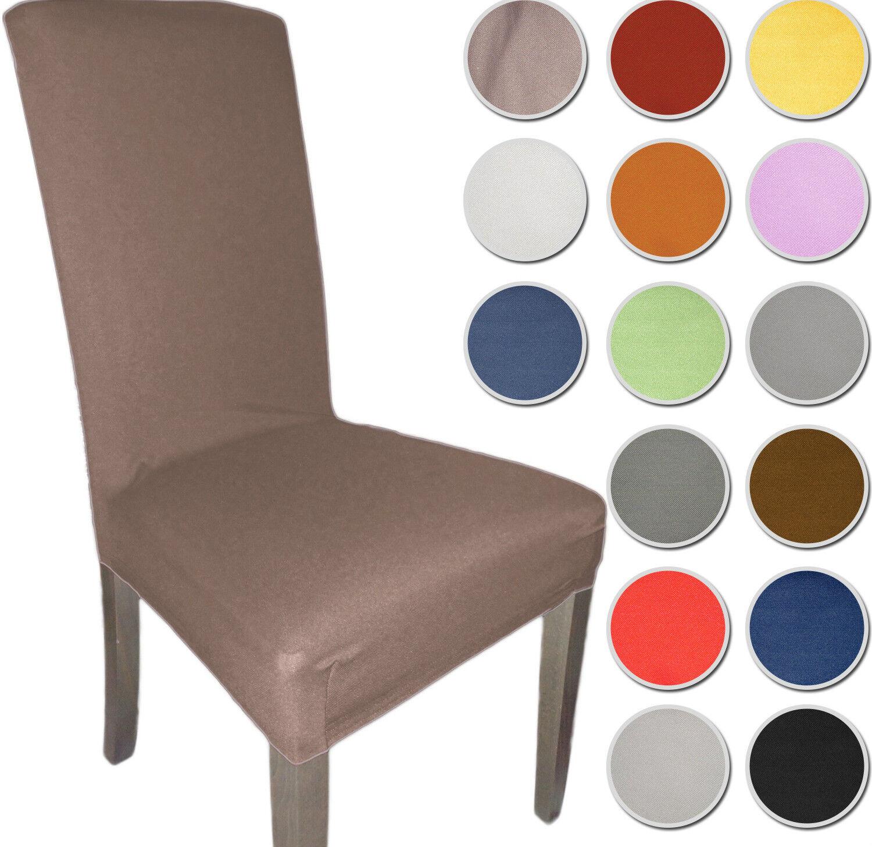 2 coprisedia vesti sedia tessuto liscio 2 pezzi rivesti sedia 15 colori ebay - Coprisedia in tessuto ikea ...